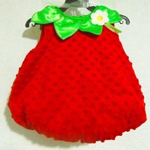 Infant Strawberry Halloween Costume Sz 3-6 Mo